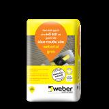 Keo dán gạch Webertai gres bao 20kg màu xám